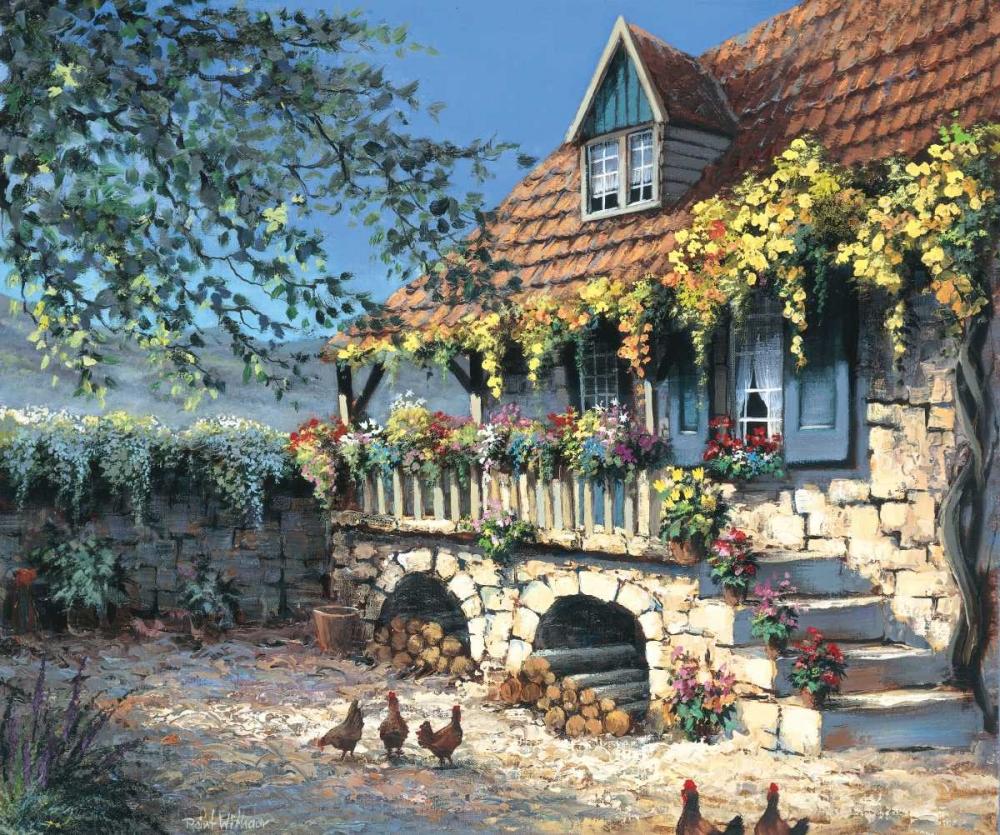 konfigurieren des Kunstdrucks in Wunschgröße Sunny yard von Withaar, Reint