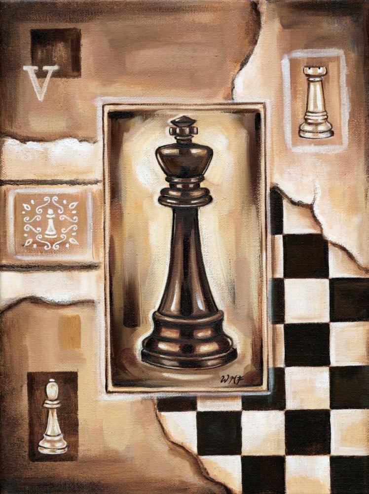 konfigurieren des Kunstdrucks in Wunschgröße Chess King von Fields, Wendy