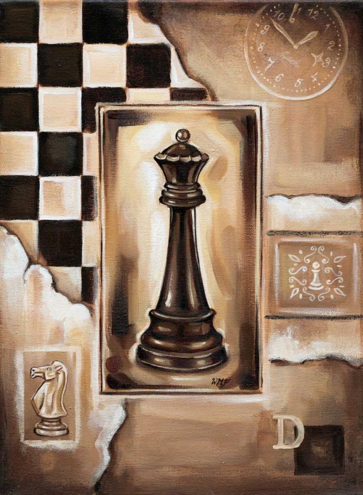 konfigurieren des Kunstdrucks in Wunschgröße Chess Queen von Fields, Wendy