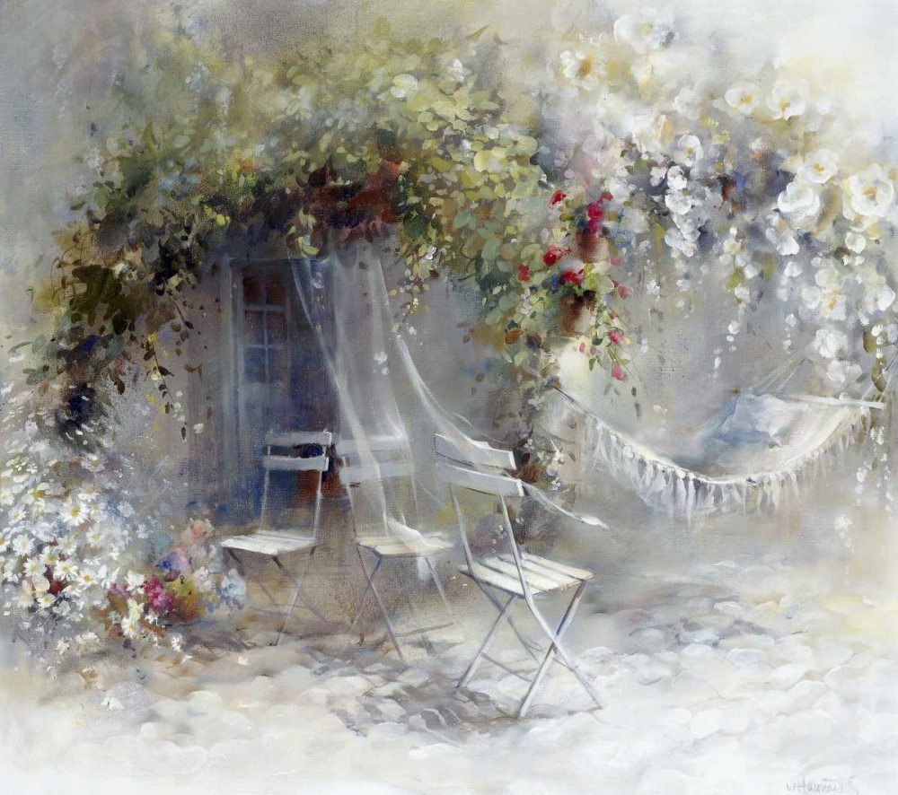 Just peace,Haenraets, Willem,Horizontal,Gardenscene,floral,romance,Nature,Traditional,Figurative,Places,Decorative,,Contemporary,,WH009