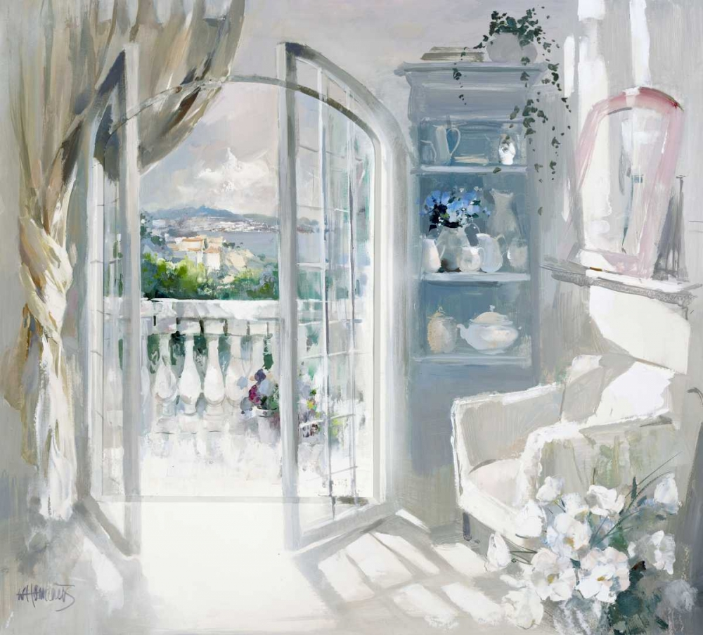 Decorative,Country French,European,Traditional,Figurative,Decorative,WH067,Sunny room,Haenraets, Willem,Horizontal