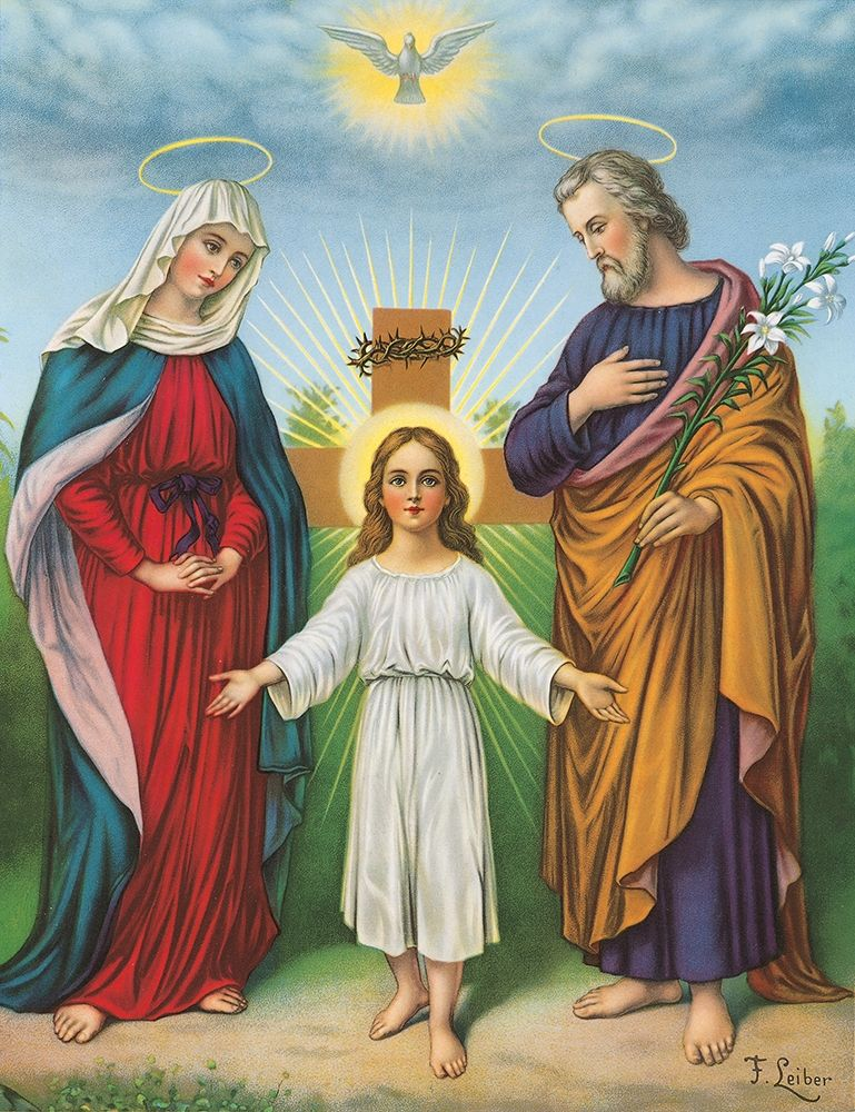 konfigurieren des Kunstdrucks in Wunschgröße JESUS, MARIA, JOSEPH von Anonymous