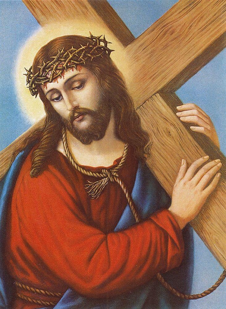 konfigurieren des Kunstdrucks in Wunschgröße KREUZTRAGENDER CHRISTUS von Anonymous