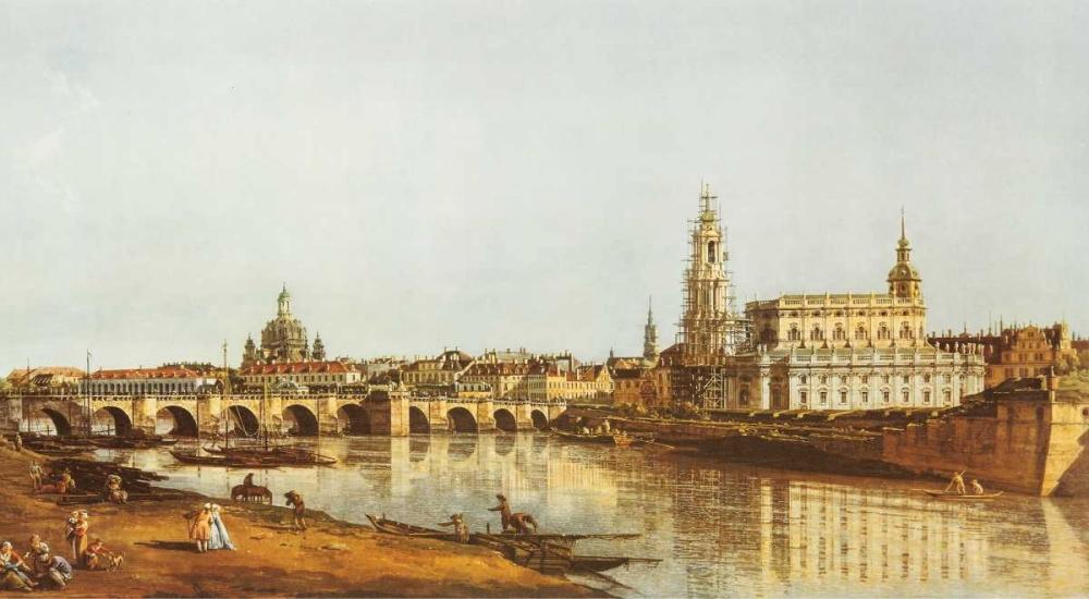 konfigurieren des Kunstdrucks in Wunschgröße Dresden, Elbufer von Canaletto