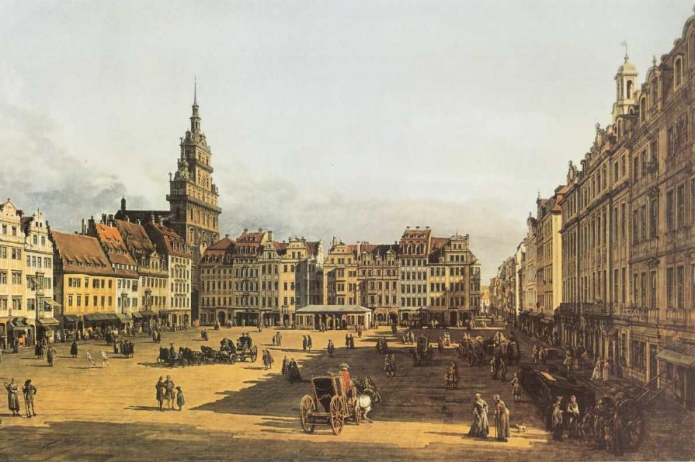 konfigurieren des Kunstdrucks in Wunschgröße Dresden, Altmarkt von Canaletto