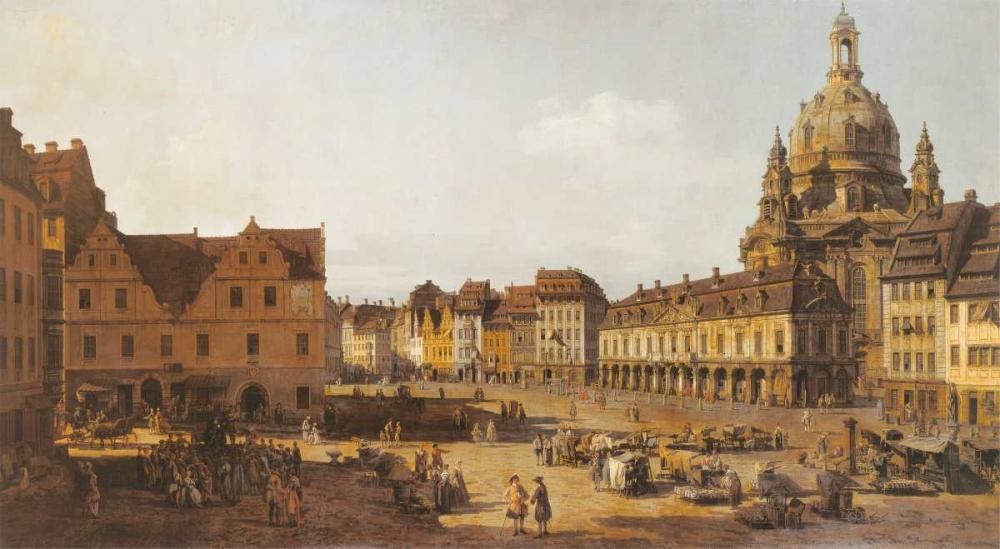 konfigurieren des Kunstdrucks in Wunschgröße Dresden, Neumarkt von Canaletto