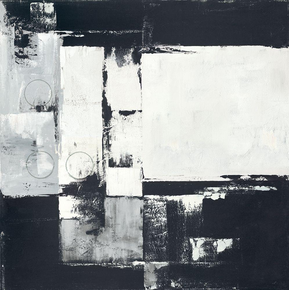 konfigurieren des Kunstdrucks in Wunschgröße Circles on Black-White I von Sedalia, David