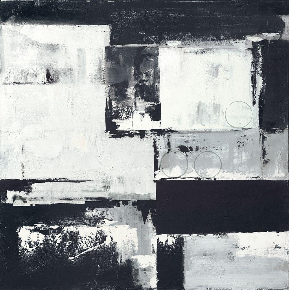 konfigurieren des Kunstdrucks in Wunschgröße Circles on Black-White II von Sedalia, David