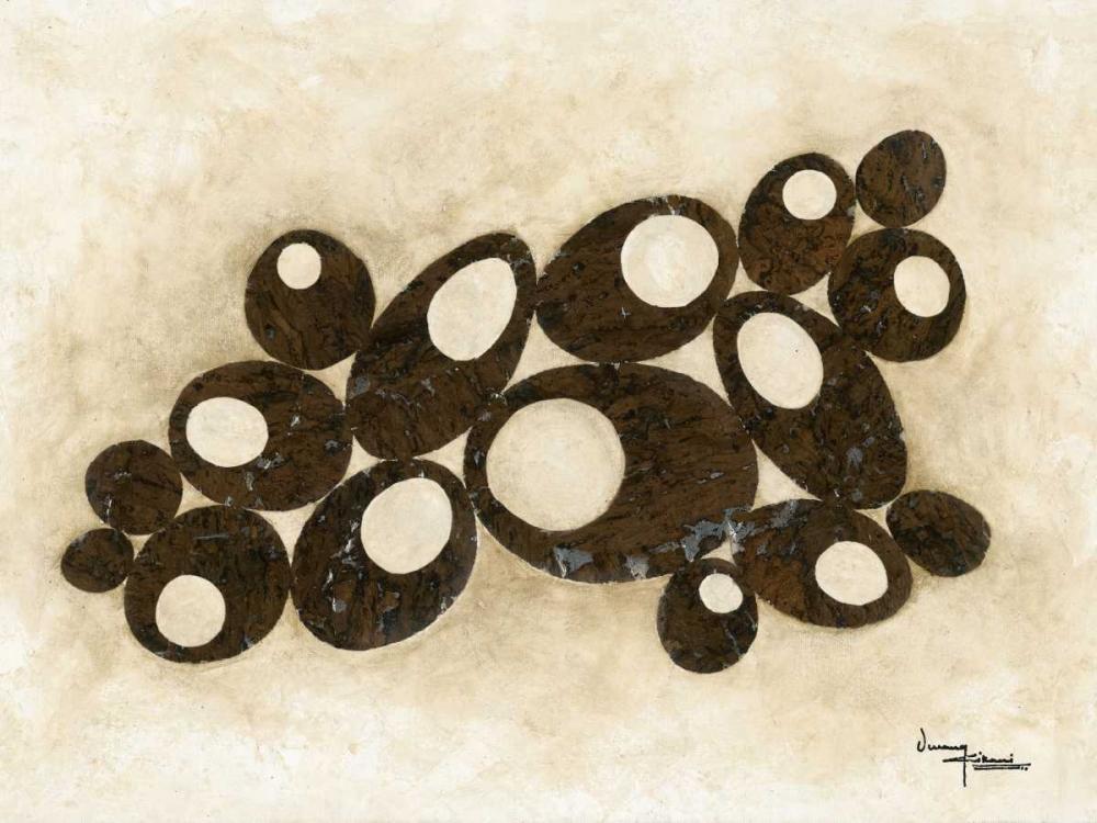 konfigurieren des Kunstdrucks in Wunschgröße Brown Circles von Kikani, Umang