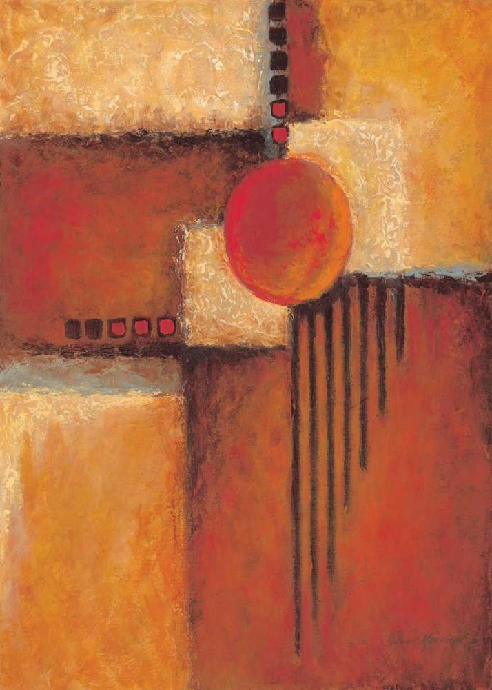 konfigurieren des Kunstdrucks in Wunschgröße Orange II von Kaufman, Judy