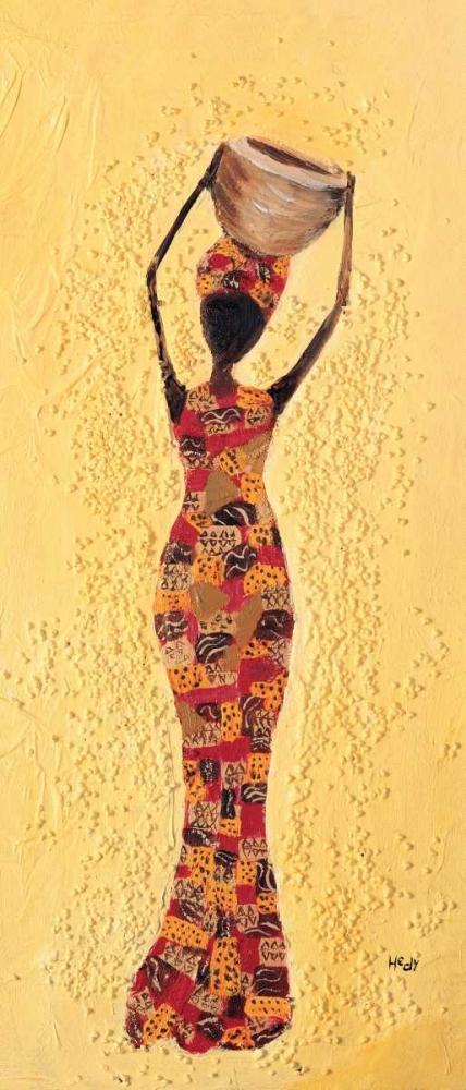 konfigurieren des Kunstdrucks in Wunschgröße African ladies 1-3 von Hedy