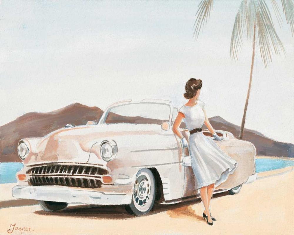 konfigurieren des Kunstdrucks in Wunschgröße Pastel car II von Jasper