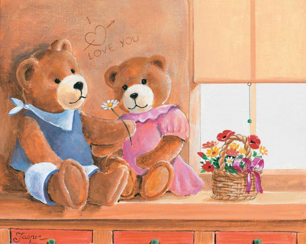 konfigurieren des Kunstdrucks in Wunschgröße Mrs. And Mr. Bear I von Jasper