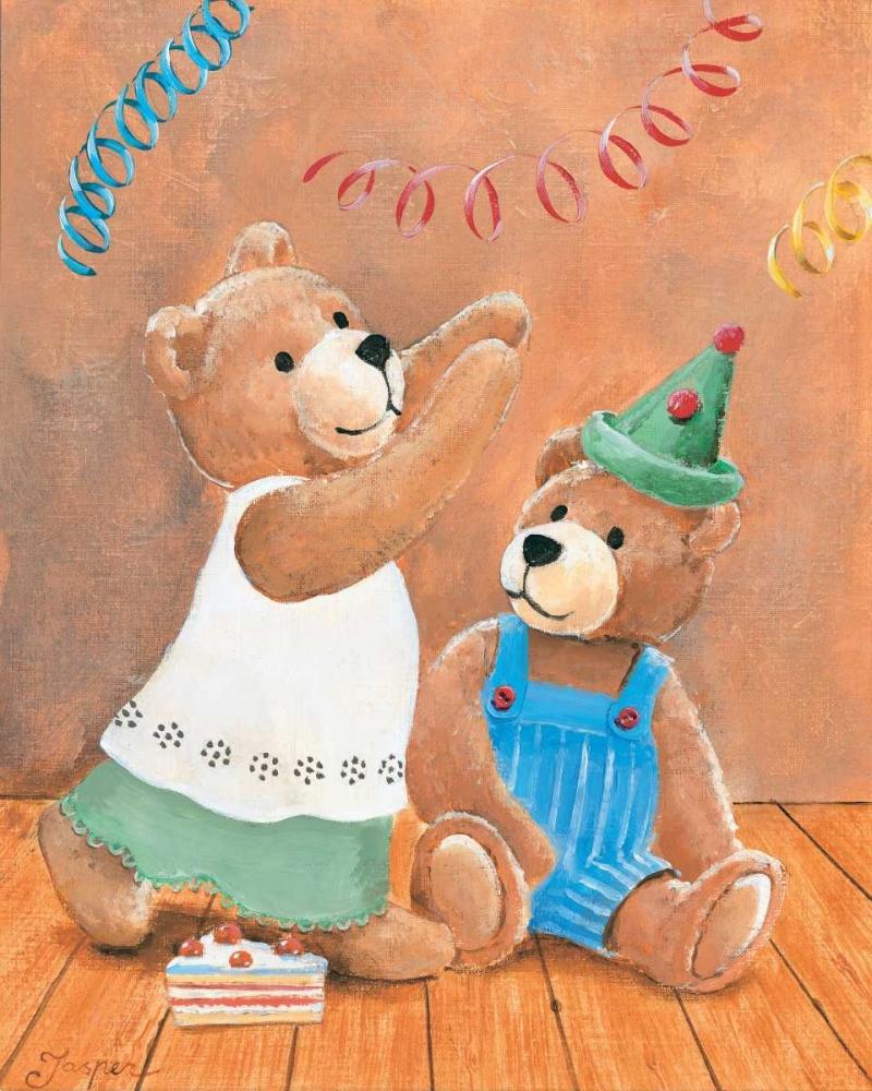 konfigurieren des Kunstdrucks in Wunschgröße Party bears von Jasper