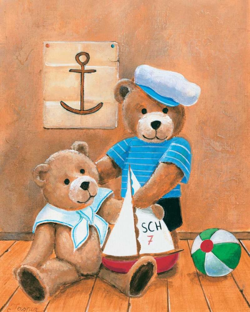 konfigurieren des Kunstdrucks in Wunschgröße Navy bears von Jasper