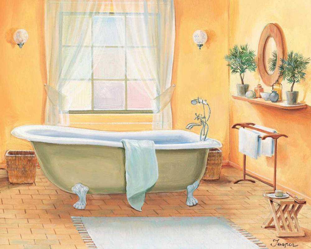 konfigurieren des Kunstdrucks in Wunschgröße Bathroom in yellow I von Jasper