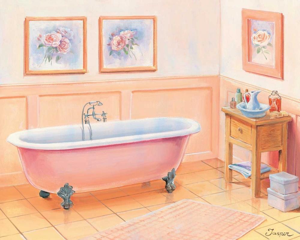 konfigurieren des Kunstdrucks in Wunschgröße Bathroom in pink I von Jasper