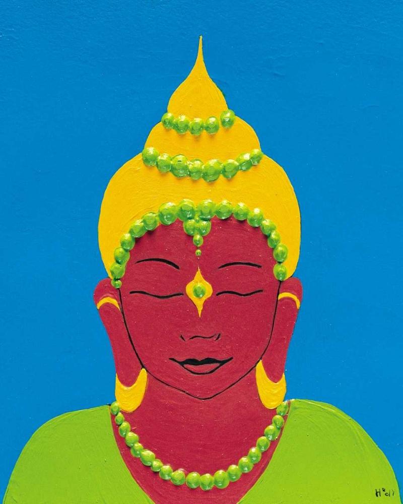 konfigurieren des Kunstdrucks in Wunschgröße Buddha II von Hedy