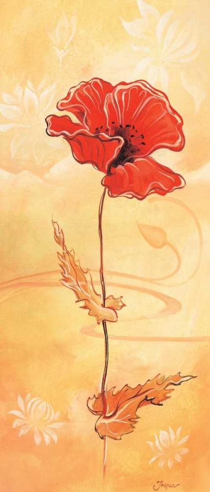 konfigurieren des Kunstdrucks in Wunschgröße Single red I von Jasper