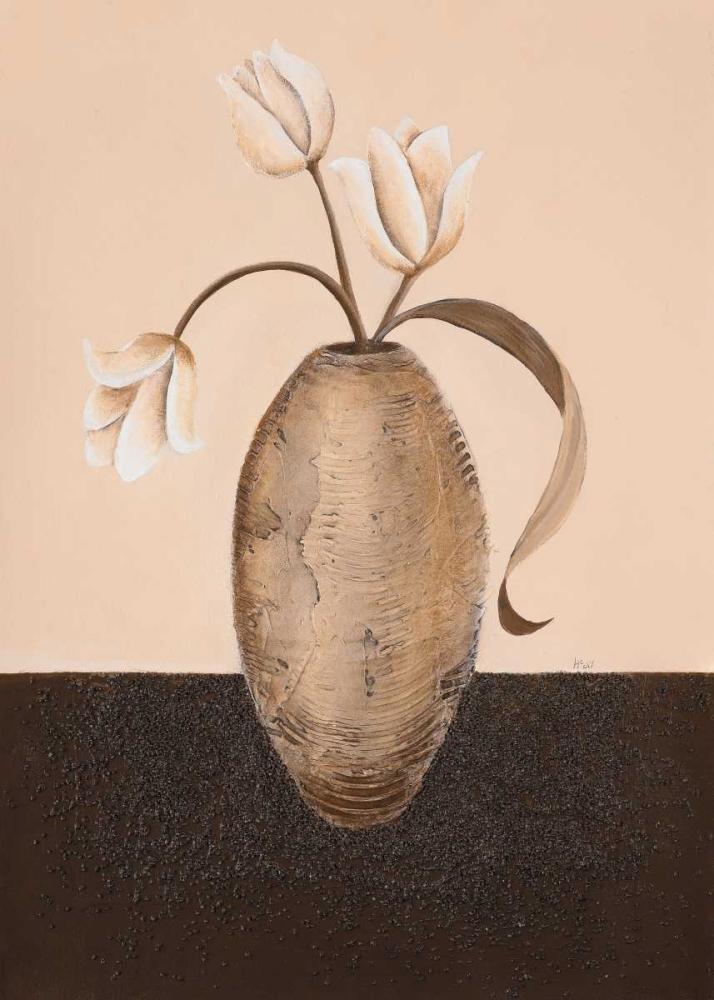 konfigurieren des Kunstdrucks in Wunschgröße Three white tulips II von Hedy