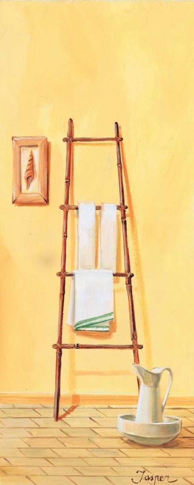konfigurieren des Kunstdrucks in Wunschgröße Bathroom in yellow III von Jasper