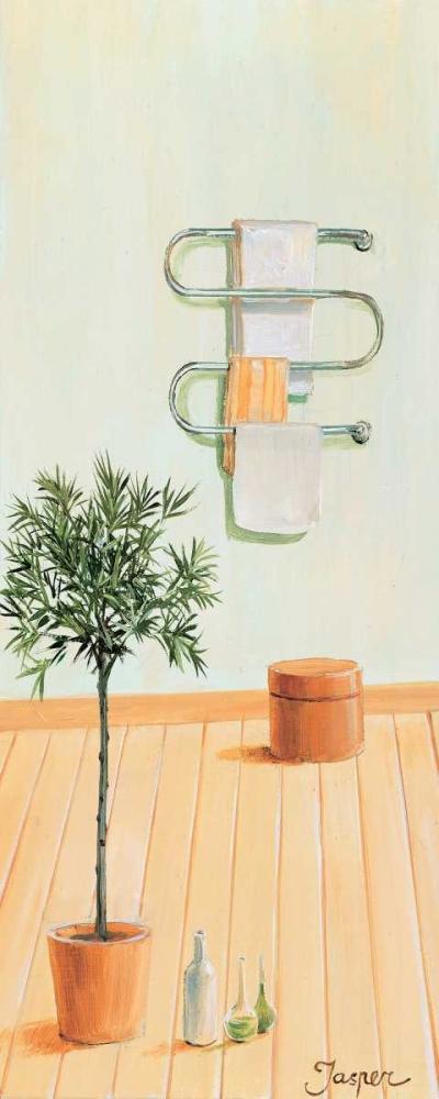 konfigurieren des Kunstdrucks in Wunschgröße Bathroom in green II von Jasper