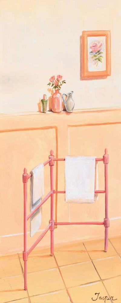 konfigurieren des Kunstdrucks in Wunschgröße Bathroom in pink II von Jasper
