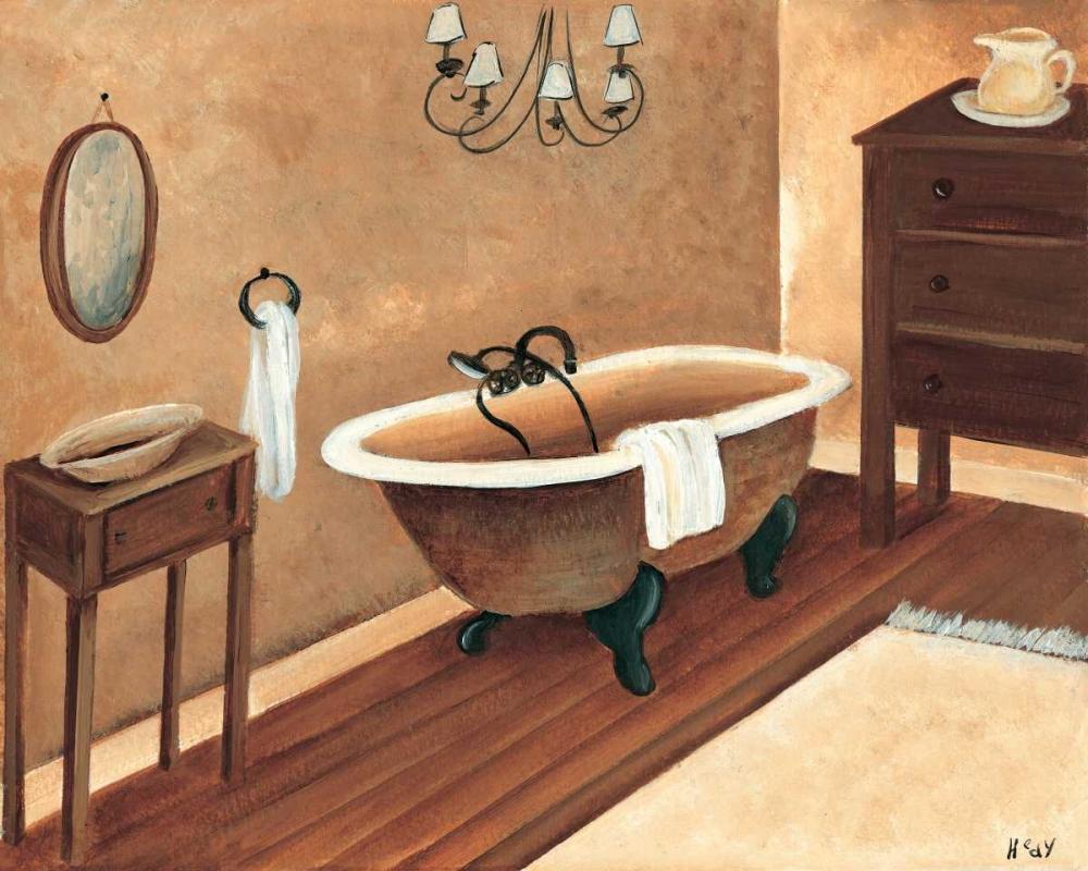 konfigurieren des Kunstdrucks in Wunschgröße Calm bath I von Hedy