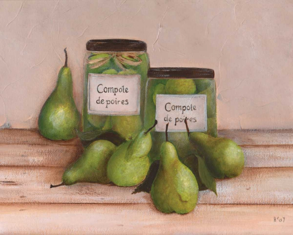 konfigurieren des Kunstdrucks in Wunschgröße Pears von Hedy