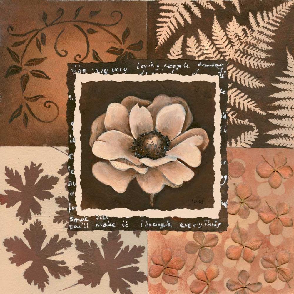 konfigurieren des Kunstdrucks in Wunschgröße Flower in square I von Hedy