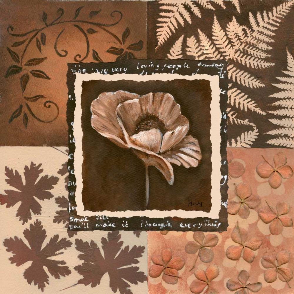 konfigurieren des Kunstdrucks in Wunschgröße Flower in square II von Hedy