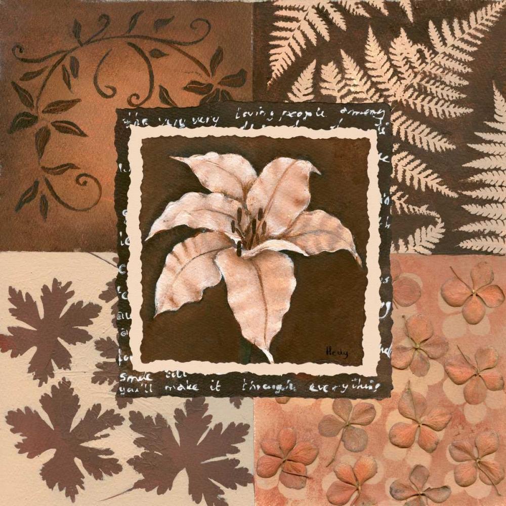 konfigurieren des Kunstdrucks in Wunschgröße Flower in square III von Hedy