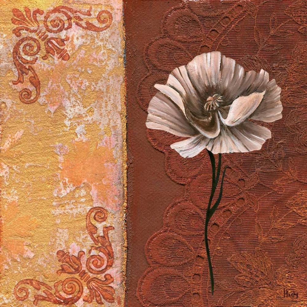 konfigurieren des Kunstdrucks in Wunschgröße Flower with border I von Hedy