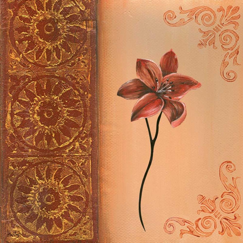 konfigurieren des Kunstdrucks in Wunschgröße Flower with border III von Hedy