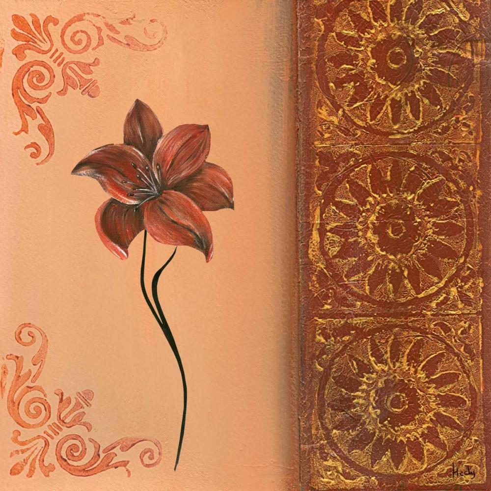 konfigurieren des Kunstdrucks in Wunschgröße Flower with border IV von Hedy