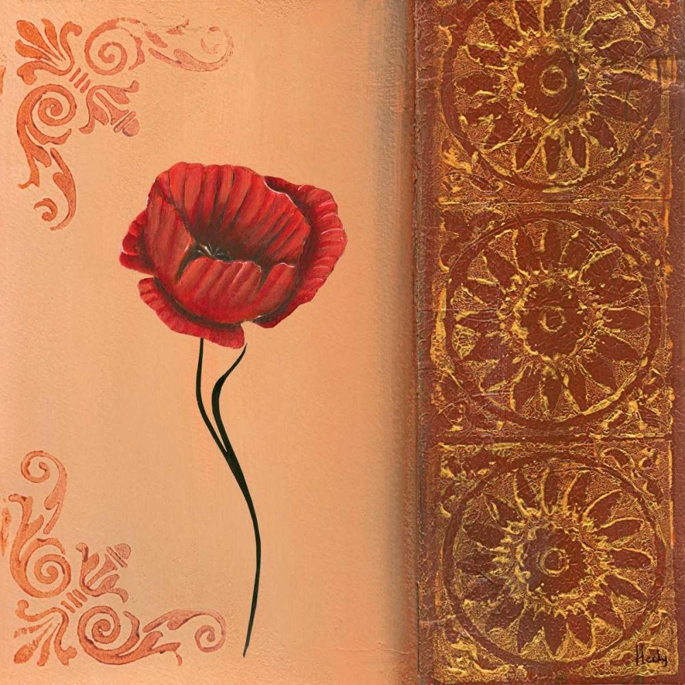 konfigurieren des Kunstdrucks in Wunschgröße Flower with border V von Hedy