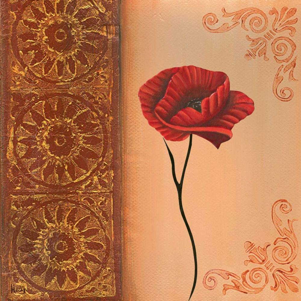 konfigurieren des Kunstdrucks in Wunschgröße Flower with border VI von Hedy
