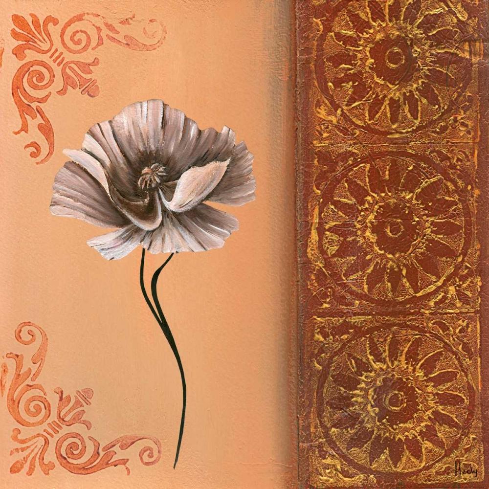 konfigurieren des Kunstdrucks in Wunschgröße Flower with border VII von Hedy