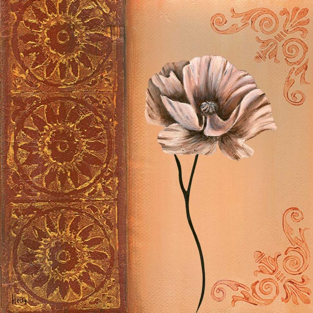 konfigurieren des Kunstdrucks in Wunschgröße Flower with border VIII von Hedy