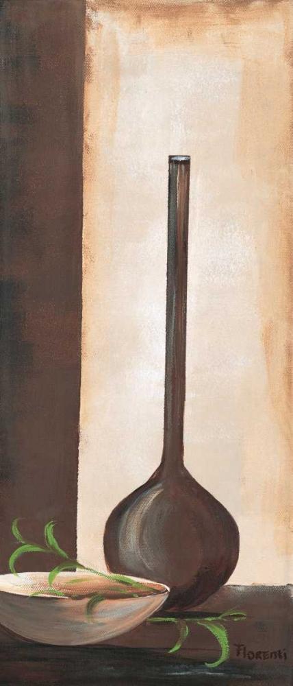 konfigurieren des Kunstdrucks in Wunschgröße Brown vase I von Florenti