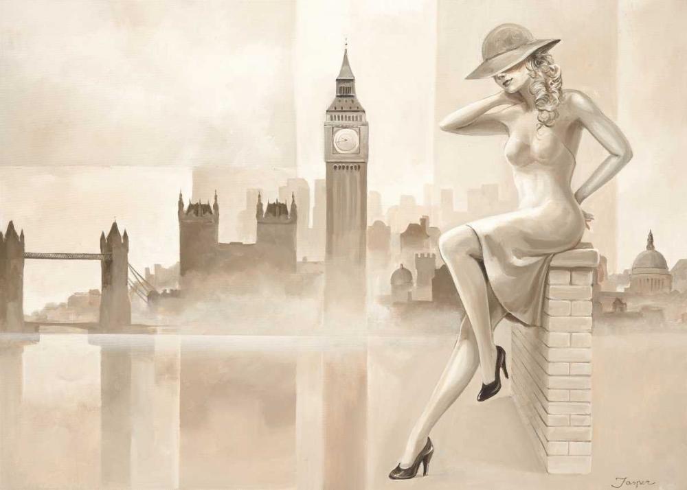 konfigurieren des Kunstdrucks in Wunschgröße London lady von Jasper