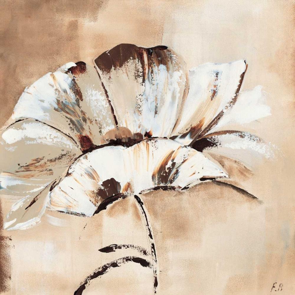 konfigurieren des Kunstdrucks in Wunschgröße Flower in beige I von Florenti