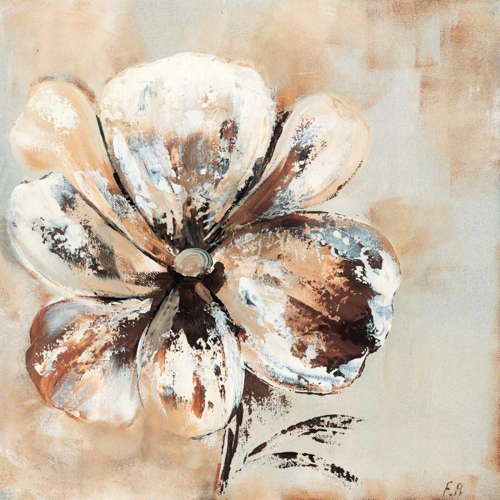 konfigurieren des Kunstdrucks in Wunschgröße Flower in beige II von Florenti