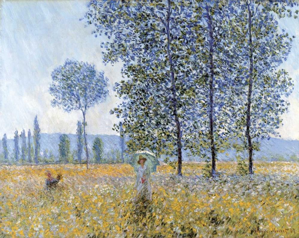 konfigurieren des Kunstdrucks in Wunschgröße Sunlight Under The Poplars von Monet, Claude
