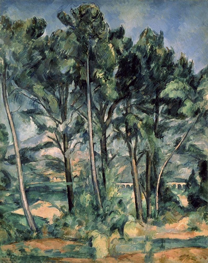 konfigurieren des Kunstdrucks in Wunschgröße The Aqueduct (Montagne Sainte-Victoire Seen Throug von Cezanne, Paul