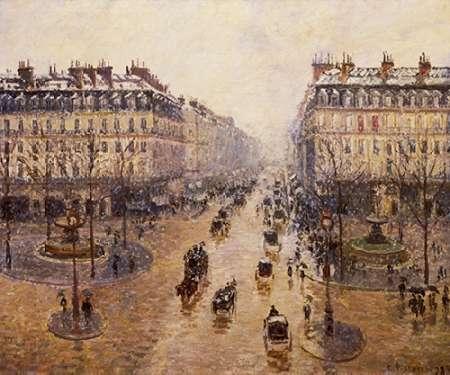 konfigurieren des Kunstdrucks in Wunschgröße The Avenue De LOpera von Pissarro, Camille