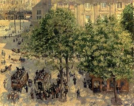 konfigurieren des Kunstdrucks in Wunschgröße Place Due Theatre Francais, 1898 von Pissarro, Camille