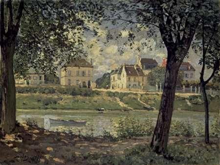 konfigurieren des Kunstdrucks in Wunschgröße Louveciennes von Sisley, Alfred