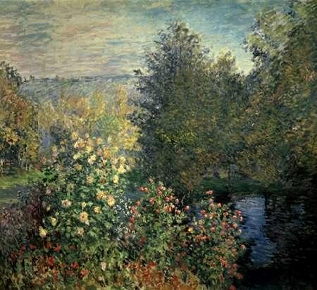 konfigurieren des Kunstdrucks in Wunschgröße Quiet Corner in the Garden of Montgeron von Monet, Claude