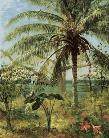 konfigurieren des Kunstdrucks in Wunschgröße Palm Tree, Nassau 1892 von Bierstadt, Albert